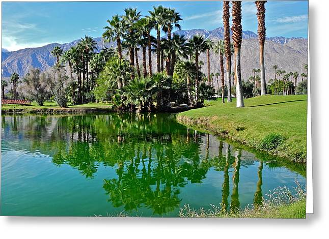 Mesquite Country Club Lake Greeting Card by Kirsten Giving