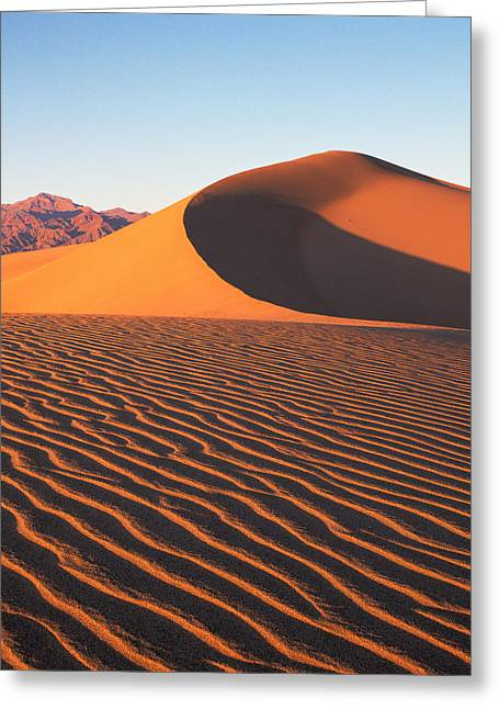 Mesquite Dunes 1-v Greeting Card