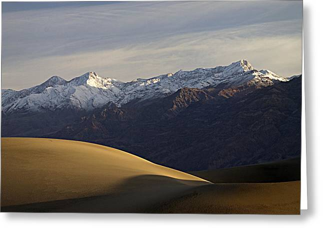 Greeting Card featuring the photograph Mesquite Dunes And Grapevine Range by Joe Schofield