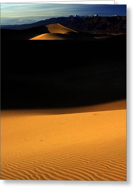 Mesquite Flats Greeting Card by Kenan Sipilovic