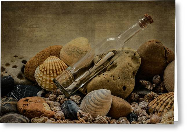 Message In A Bottle IIi Greeting Card by Marco Oliveira