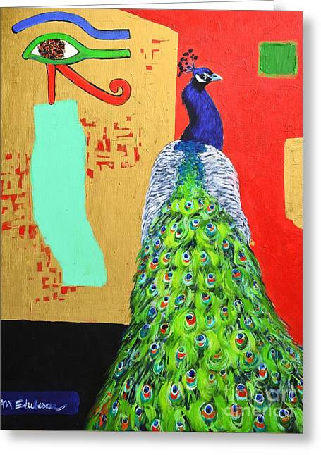Greeting Card featuring the painting Messages by Ana Maria Edulescu