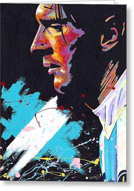 Messi Greeting Card by Jeff Gomez