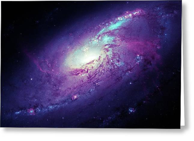 Messier 106 Greeting Card by Detlev Van Ravenswaay