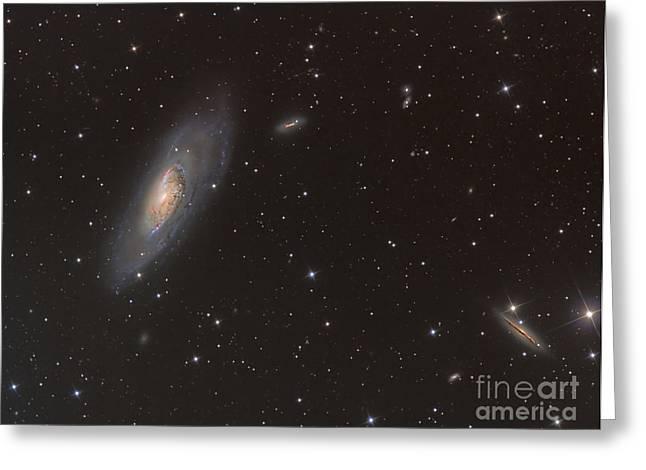 Messier 106 Spiral Galaxy Greeting Card by Reinhold Wittich