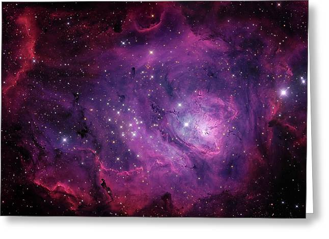 Messier 8, The Lagoon Nebula Greeting Card by Michael Miller
