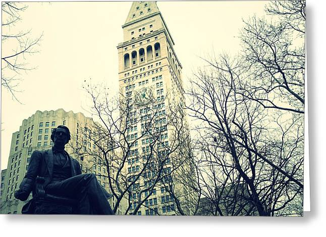 Met Life And Madison Square Park Greeting Card
