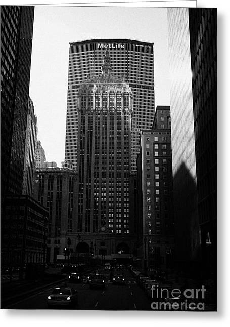 Met Life Building And 230 Park Avenue New York City Greeting Card