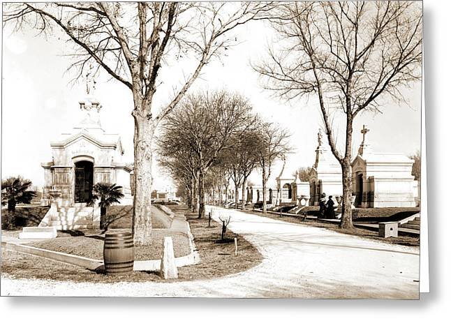 Metairie Cemetery, New Orleans, Cemeteries Greeting Card by Litz Collection