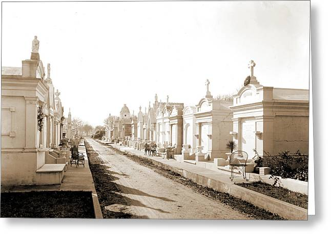 Metairie Cemetery, New Orleans, Louisiana, Tombs & Greeting Card