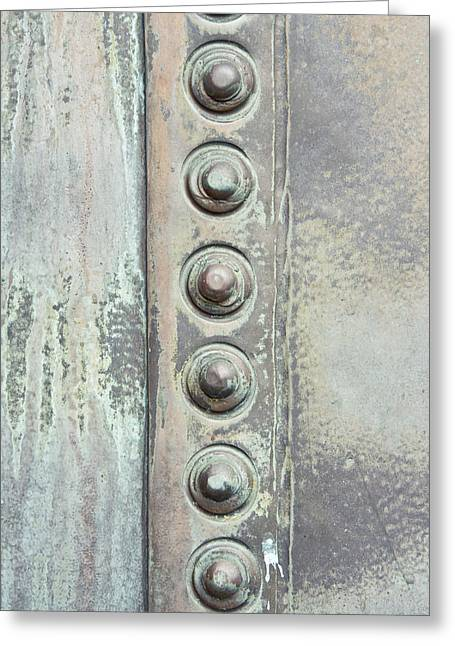 Metal Detail Greeting Card by Tom Gowanlock