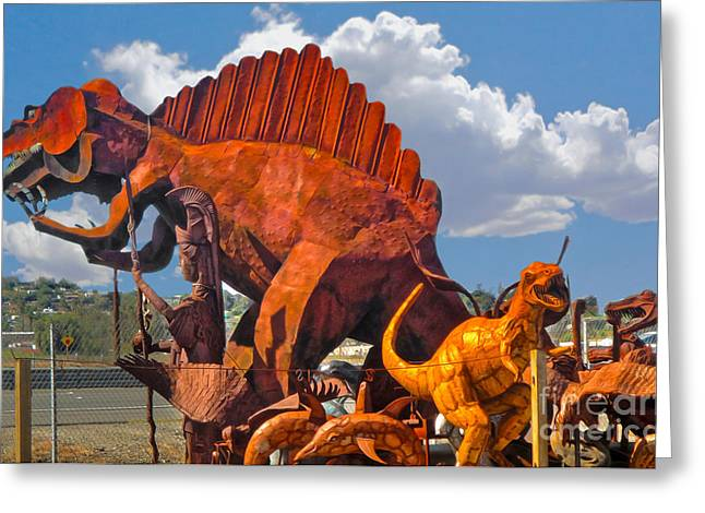 Metal Dinosaurs - 01 Greeting Card by Gregory Dyer