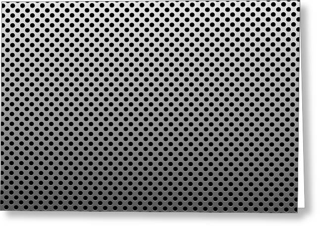 Metal Dotted Silver Greeting Card