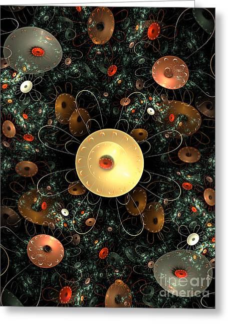 Metal Flower Greeting Card by Klara Acel