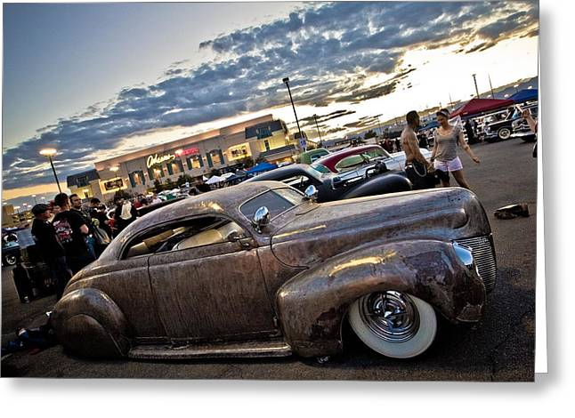 Metal Merc Greeting Card by Merrick Imagery