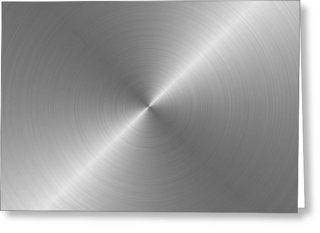 Metal Rough Circular Brushed Steel Aluminum Texture 1 Greeting Card by REDlightIMAGE