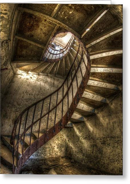 Bauwerk Greeting Cards - Metal stairs Greeting Card by Nathan Wright