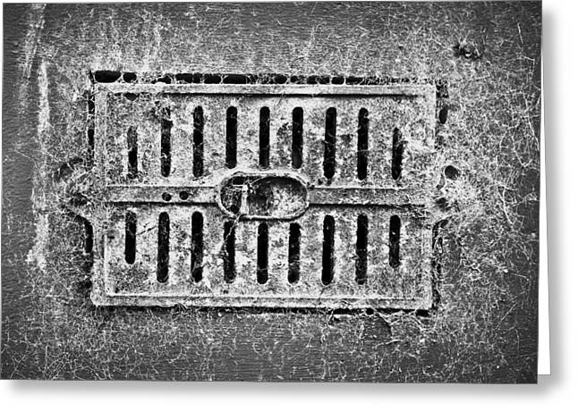 Metal Vent Greeting Card by Tom Gowanlock