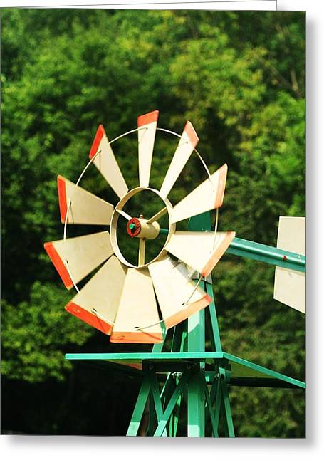 Metal Windmill Greeting Card by Christopher Hoffman