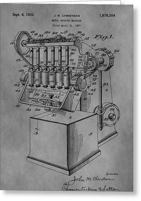 Metal Working Machine Greeting Card