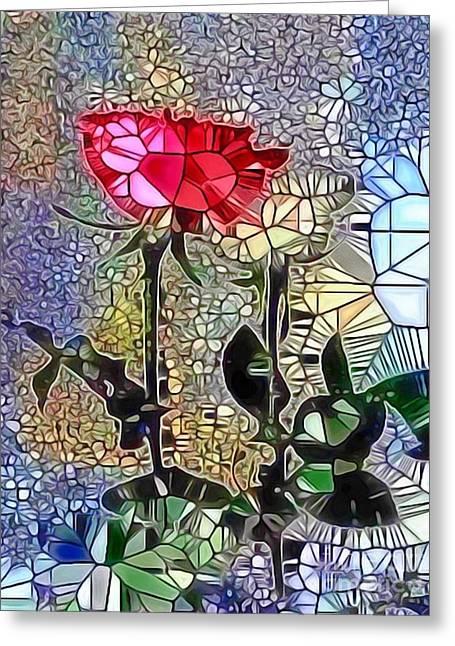 Metalic Rose Greeting Card
