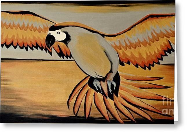 Metallic Macaw Greeting Card