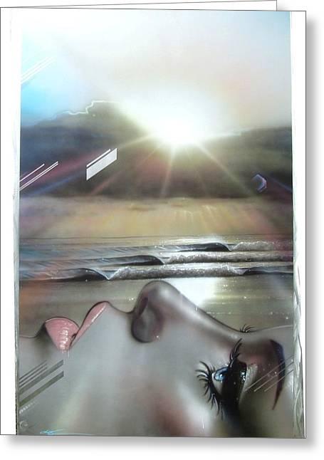 Ocean - ' Metallic Visions ' Greeting Card by Christian Chapman Art