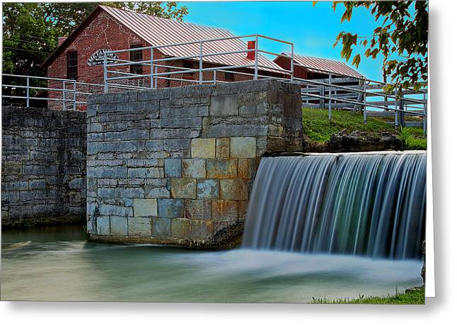 Metamora Waterfall Greeting Card by Chuck Campbell
