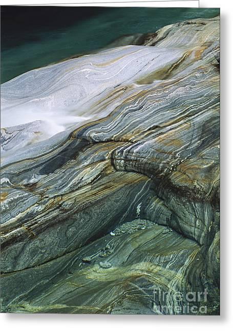 Metamorphic Rock Greeting Card by Art Wolfe