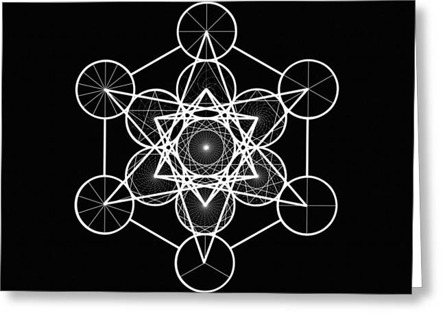 Metatron Wheel Cube Greeting Card