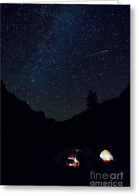 Meteor And Milky Way Greeting Card by William H. Mullins