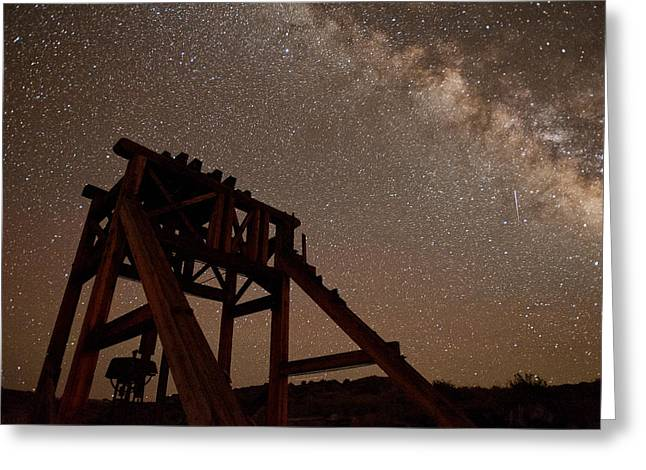 Meteor At Bodie Greeting Card by Cat Connor