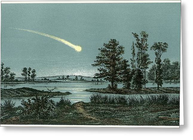 Meteor Greeting Card