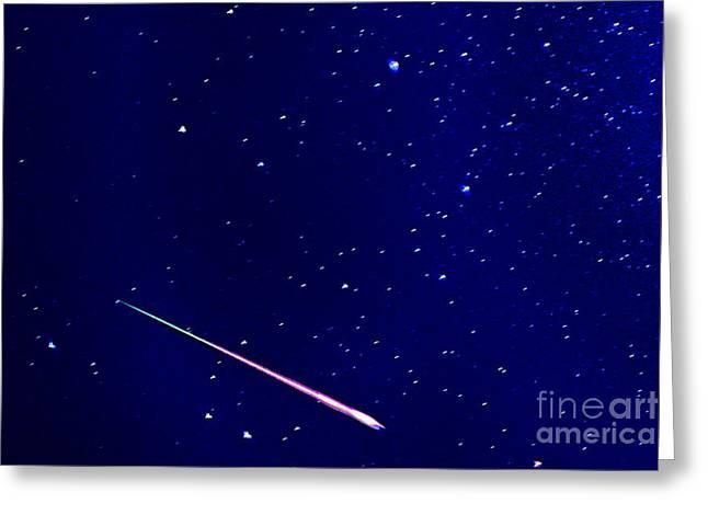 Meteor Eta Aquarid Meteor Shower Greeting Card by Thomas R Fletcher