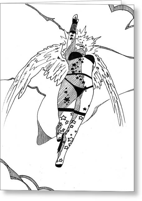 Meteor Mags Anarchangel 5x7 Greeting Card by Matthew Howard
