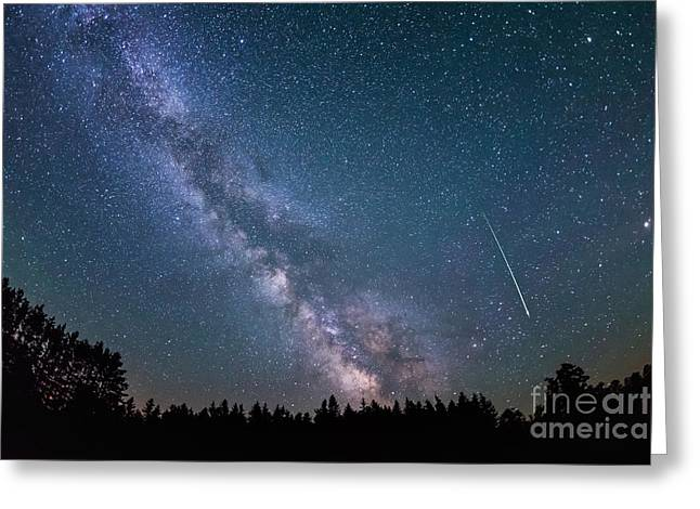 Meteor Milky Way  Greeting Card