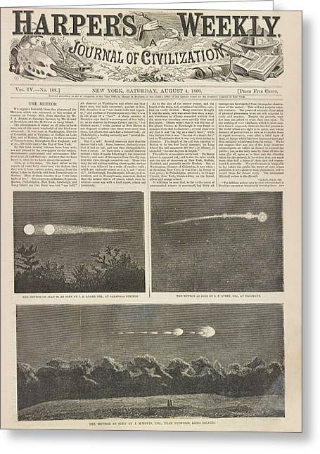 Meteor Procession Of 20 July 1860 Greeting Card