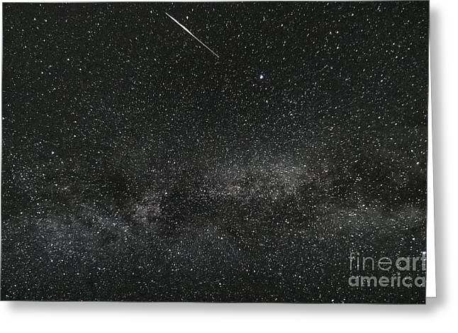 Meteor With The Milky Way Greeting Card