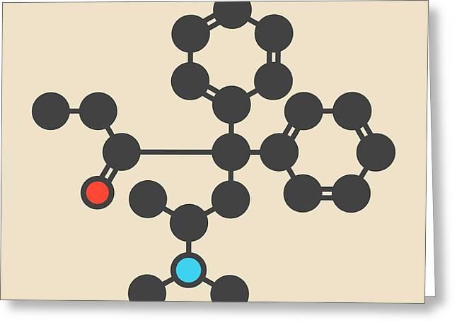 Methadone Opioid Dependency Drug Molecule Greeting Card