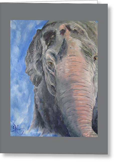 The Elder, Methai An Elephant Greeting Card