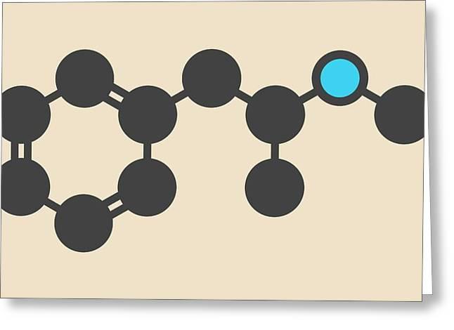 Methamphetamine Crystal Meth Molecule Greeting Card