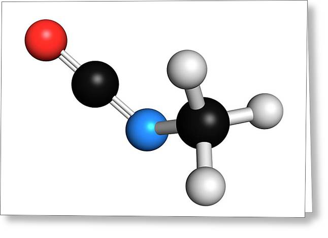 Methyl Isocyanate Mic Toxic Molecule Greeting Card