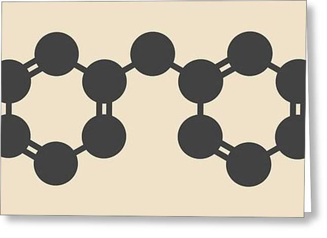 Methylene Diphenyl Diisocyanate Molecule Greeting Card