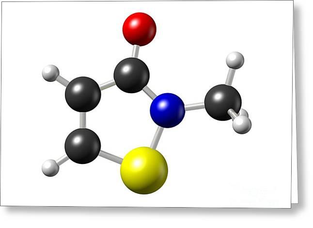 Methylisothiazolinone Preservative Greeting Card by Dr Mark J. Winter