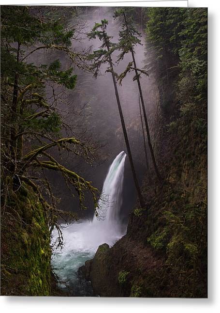 Metlako Falls Oregon Greeting Card