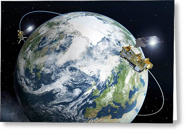 Metop-second Generation Satellites Greeting Card by Esa-p. Carril