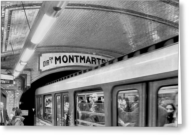 Greeting Card featuring the photograph Metro At Montmartre. Paris by Jennie Breeze