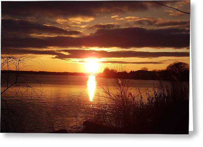 Greeting Card featuring the photograph Metro Beach Sunset by Bill Woodstock