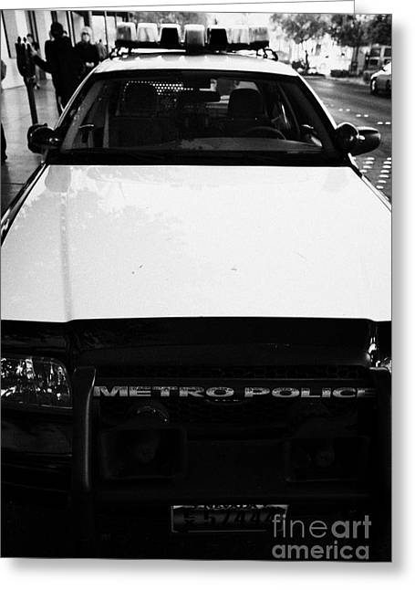 metro metropolitan police squad patrol police car Las Vegas Greeting Card