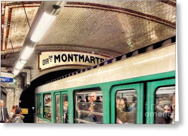 Greeting Card featuring the photograph Metro To Montmartre. Paris   by Jennie Breeze
